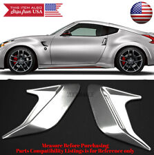 """2PC 5"""" x5"""" ABS Silver Side Fender Intake Air Vent w/ Mesh Insert For Honda Acura"""