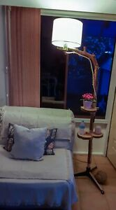 Rustic Eco Friendly Romantic Wood Floor Lamps Rustic Plant Flower Stand Natural