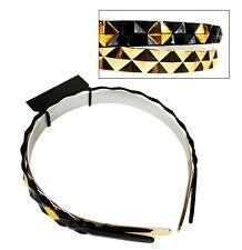 Alice Bands 2 Pack - Black & Gold Hair bands - Girls Headband George Asda