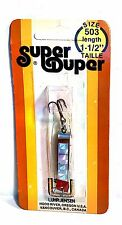 "Luhr-Jensen Vintage Super Duper Chrome/ Silver Size 503 length 1-1/2"""