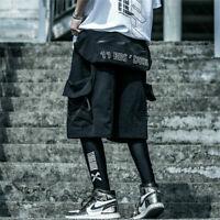 Niepce Dusk Bag Shorts Asian streetwear Black with Waist Bag