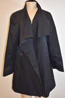Eileen Fisher Black Women's Rain Jacket Size Large On Sale