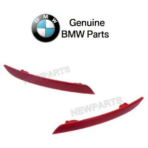For BMW F30 320i Set of Rear Left & Right Reflectors-Bumper Cover Red GENUINE