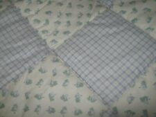 Laura Ashley Quilted Blue & White Twin Size Comforter Set W/ Sheets Nr