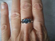 Marambia London Blue Topaz ring, 2 carats, size P/Q, 2.36 grams of 925 St Silver