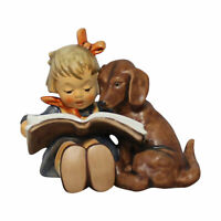 Hummel  Goebel 800 - Proud Moments girl reading with puppy   - (ln box)