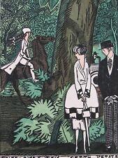 F. Siméon Vous avez vu ? cette petite Gazette Bon Ton 1920 Pl. 24 Art-Déco