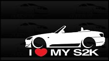 I Heart My S2000 Sticker Love Slammed Low JDM Convertible S2k Honda F20C Vert