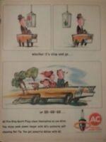 1964 AC Spark Plugs Fire Ring Car Stop And Go Cartoon Original Ad