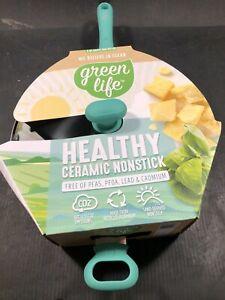 GreenLife Diamond 5 quart Saute Pan with Lid, Turquoise