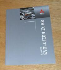 Mitsubishi Lancer Evolution IX MR Brochure 2006-2007 - IX MR FQ-360 By HKS