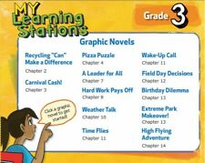 My Learning Stations Graphic Novels Grade 3 PC MAC CD McGraw reading English