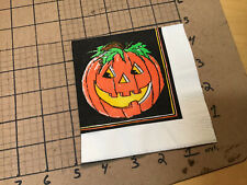 Original Vintage Napkin from collection -- jack o lantern halloween 1996