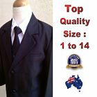 5pc Set Boys Formal Suit Black Wedding Tuxedo Christening Outfit Size 1 to 14