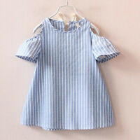 New Infant Kids Girl Princess Dress Summer Casual Holiday Party Dress Sundress