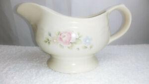 Pfaltzgraff Gravy Bowl Beige w/Pastel Flowers Blue and Pink 20 oz