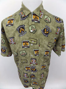 Men's Avirex Short Sleeve Casual Urban Graphic Shirt Tactical Systems sz Medium