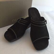 Easy Spirit Woman's Wedge Open Toe Shoes - Color: Black Size 7.5 NIB