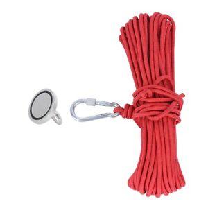 Durable Magnetic Hook Fishing Magnet Hardware N35 179LBS + 20‑Meter Red Rope