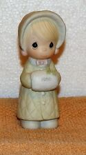 Precious Moments Wishing You A Cozy Christmas 1986 Collectible Figurine 102342