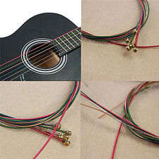 Acoustic Guitar Strings Guitar Strings One Set 6pc Rainbow Colorful Color ChicJh