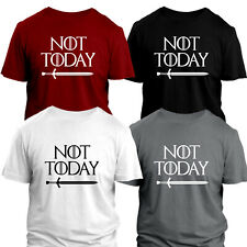 NOT TODAY T-SHIRT GAME OF THRONES INSPIRED ARYA STARK TOPS