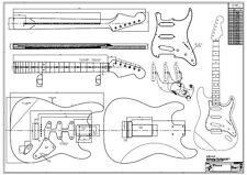 '60 Strat Zeichnung / Bauplan / Drawing - Tonholz w. Fender Stratocaster Ibanez