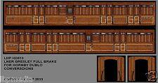 HORNBY DUBLO D11 NEW LNER GRESLEY FULL BRAKE CONVERSION TRANSFER SET LHP HD510