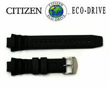 Citizen Eco-Drive BN0015-15E Original 14mm Black Rubber Watch Band Strap