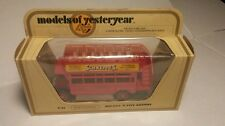 "Diecast Matchbox MODELS of Yesteryear NRFB Y-23 1922 A.E.C.""S"" Type Omnibus 1982"