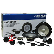 "NEW ALPINE 6.5"" 2-WAY CAR AUDIO SHALLOW MOUNT COMPONENT SPEAKER SYSTEM PAIR"