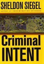 NEW - Criminal Intent by Siegel, Sheldon