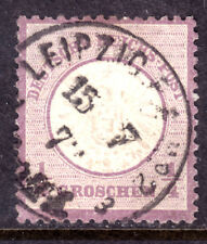 GERMANY #14 1/4gr VIOLET, 1872 EMBOSSED, VF, CDS