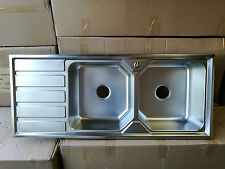 Brand New Stainless Steel Double Bowl Sink 1200x500x230 mm