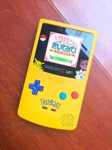 Nintendo Game Boy Color GBC USED DIY  IPS highlighted display pokamon style
