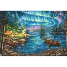 """Dimensions Gold Collection Counted Cross Stitch Kit Northern Night 11"""" X 16"""" NEW"""