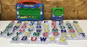 Leap Frog Word Whammer & Fridge Phonics ABC Lot 56 Uppercase Letters Alphabet
