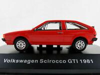 DeAGOSTINI #34 VW Scirocco II GTI (1981-1992) in rot 1:43 NEU/PC-Vitrine