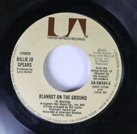 Country 45 Billie Jo Spears - Blanket On The Ground / Come On Home On United Art