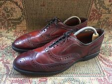 Allen Edmonds CAMBRIDGE shell Cordovan Brogues Mens Dress Shoes Size USA 10 D