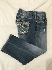 (*.*) SILVER JEANS * Womens SUKI SURPLUS CAPRI Blue Jeans / Denim * Size 29