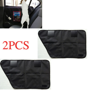 Car Auto Side Door Cover Pet Dog Anti-scratch Black Waterproof with Pockets