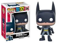 "EXCLUSIVE TEEN TITANS GO! ROBIN AS BATMAN 3.75"" VINYL FIGURE POP FUNKO"