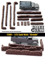 1/72 scale 72SB1 Sand Bag Walls Straight (13 pieces)
