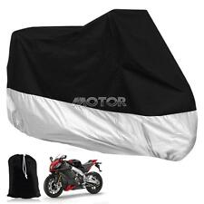Silver/Black Motorcycle Cover f Harley Davidson Electra Glide Touring Road King