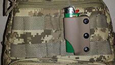 Flat Dark Earth Kydex Survival Lighter sheath RC custom kydex.