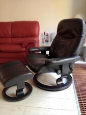 Stressless Leder Sessel Modell Ambassador (L) mit Hocker