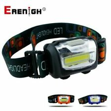 LED COB Faros Faro Linterna antorcha de luz de cabeza frontal 3 modos 8W 3 AAA