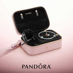 """Authentic Pandora """"Pink Garden"""" Jewellery Box Limited Edition BOXED travel case*"""