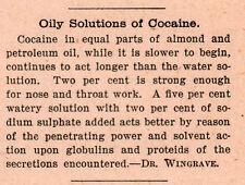 1901 AD  COCAINE DR WINGRAVE EQUAL PARTS ALMOND PETROLEUM